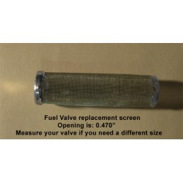 Harley Topper replacement fuel valve screen Brass