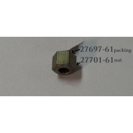 27701-61 Harley Topper main mixture screw packing nut with packing