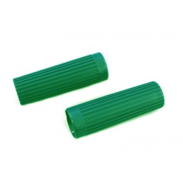 56203-62 Harley Topper Ribbed Green handgrips and Plugs
