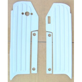 This sale is for one set of 50615-59 left side and 50616-59 right side Harley Topper foot board mats. Color: GRAY