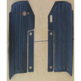 50615-61 left and 50617-61 right Harley Topper foot board mats BLACK