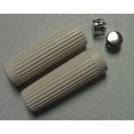 56201-62 Harley Topper Ribbed White Hand Grips